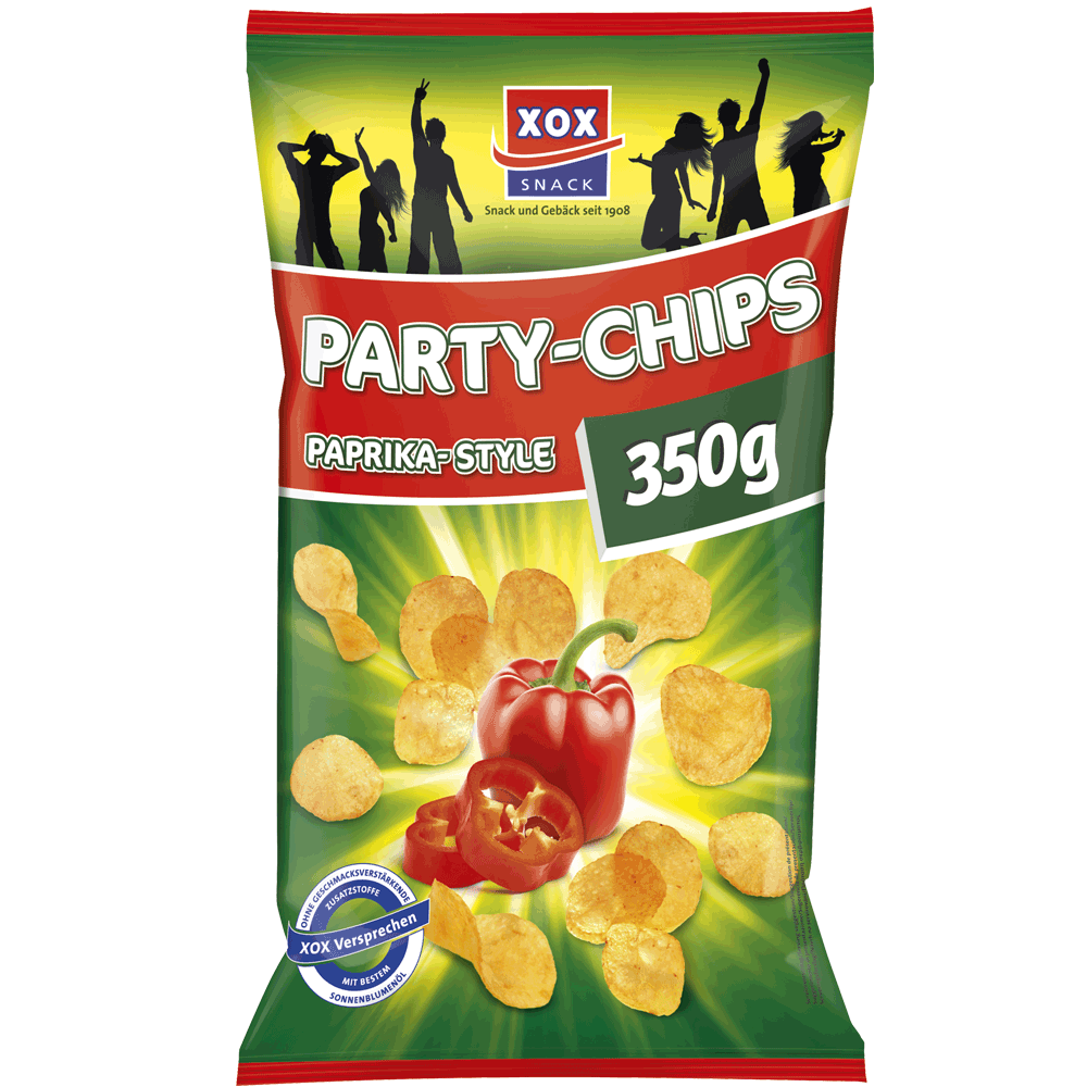 Party-Chips Paprika-Style