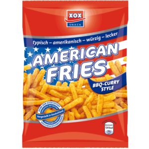 XOX American Fries BBQ-Curry 125g