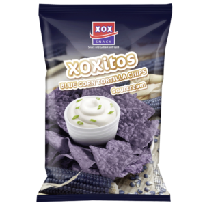 XOX Tortillachips Bluecorn & Sourcream 125g