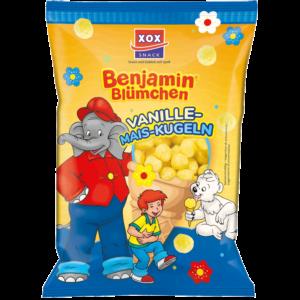 XOX Benjamin Blümchen Vanille-Mais-Kugeln 110g