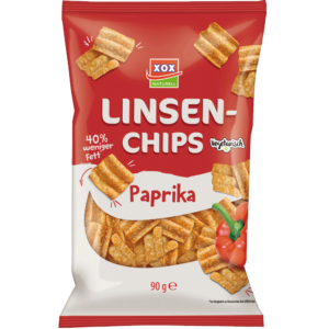 XOX Linsenchips Paprika 90g