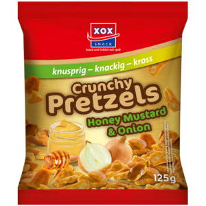 XOX Crunchy Pretzels Honey Mustard & Onion 125g
