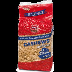 XOX Cashews geröstet & mit Meersalz 500g
