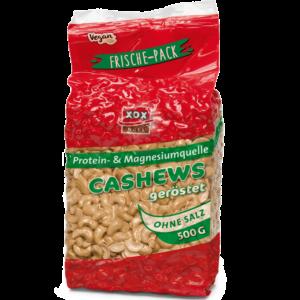 XOX Cashews geröstet und ohne Salz 500g